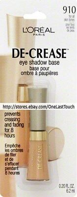 L'OREAL* Eye Shadow PRIMER/BASE De-crease #910 ALL SKIN TONES Discont. (carded)
