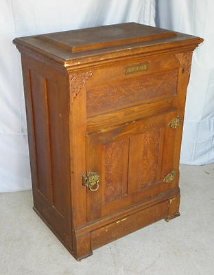 Antique Wood Ice Box – Monarch – 1897