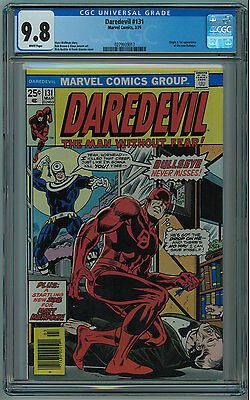 Daredevil #131 Cgc 9.8 Best Cgc Copy  1St Bullseye White Pages Bronze Age