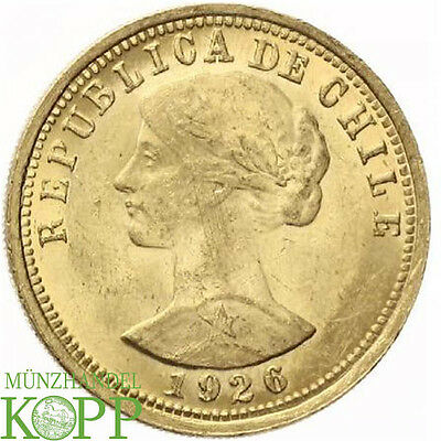 Aa1235) Chile 100 Pesos 1926 Gold