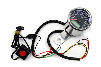 "2"" Mini Electric Speedometer, EA,for Harley Davidson motorcycles,by V-Twin"