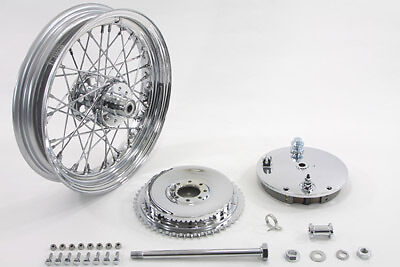 """16"""" Wheel and Brake Drum Assembly Chrome, KIT,for Harley Davidson motorcycles,by"""
