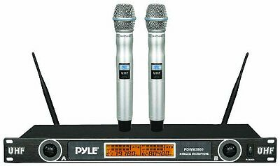 Professional Rack Mount Dual 2.4G  Wireless Handheld Microphone System