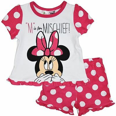 Disney Baby Minnie Mouse Pyjamas M Is For Mischief Bnwt Size 00, 0, 1 , 2