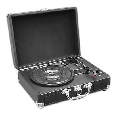 New PVTT2UBK Rechargeable Retro Belt-Drive Turntable W/Speakers & USB-to-PC Line