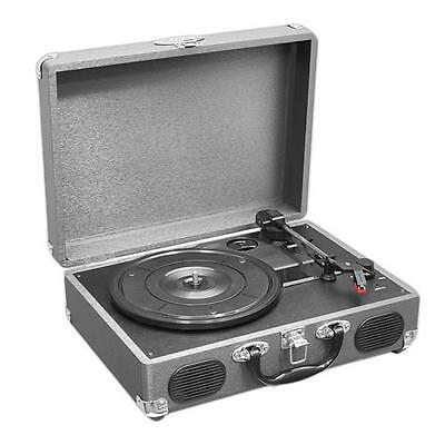 New PVTT2UGR Rechargeable Retro Belt-Drive Turntable W/Speakers & USB-to-PC Line