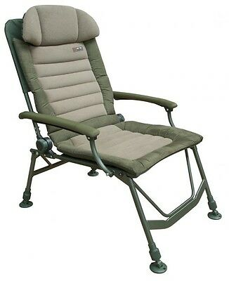 Fox NEW Carp Fishing FX Super Deluxe Recliner Chair With Arms - CBC047