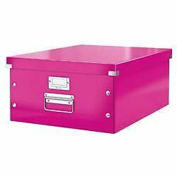 Leitz WOW click and store storage box large pink
