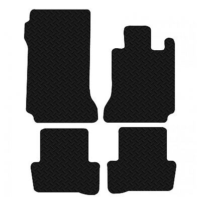 Mercedes C Class 2007 to 2014 Black Floor Rubber Tailored Car Mats 3mm 4pc Set
