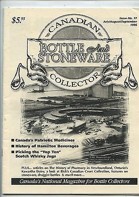 July/Aug/Sept 1996 Canadian Bottle & Stoneware Collector Magazine