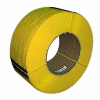 "PAC Strapping 38M.30.3412  3/8"" Machine Grade Yellow Polypropylene Strapping, 1"
