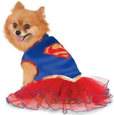 Supergirl Tutu DC Comics Superhero Fancy Dress Up Halloween Pet Dog Cat Costume