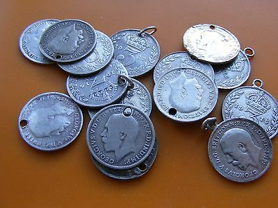 Various Vintage George V Three Pence Coin 3P 1911-1936