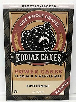 Baker Mills Kodiak Cakes Frontier Flapjack Waffle Mix Protein Packed Buttermilk