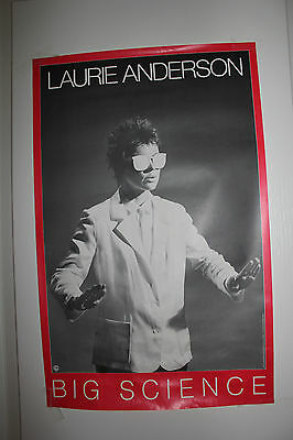 """LAURIE ANDERSON """"Big Science"""" PROMOTIONAL POSTER 14x22 very rare in nm condition"""