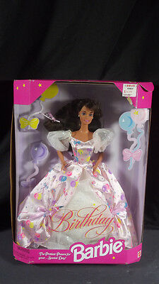 Nib Barbie Doll 1996 Birthday Baloon Dress