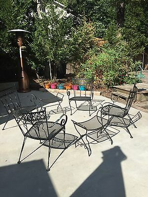 Mid Century Modern Vintage Iron Chairs & Tables Unique One Owner
