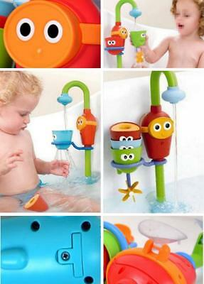 Fun Cartoon Flow 'N' Fill Spout Bathing Toy Learning Plastic Toy Set Baby Gift Q