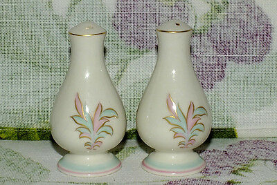 FRANCISCAN ROSSMORE pink mint green floral SALT & PEPPER SHAKERS SET   EXC
