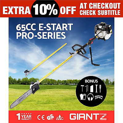 NEW 65CC Pole Chainsaw Petrol Chain Saw Tree Pruner Tool Cutter Brush Giantz