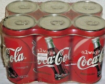 NEW COKE SIX PACK tin set coca cola tin GIFT SET