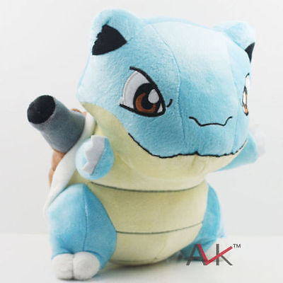 "New Pokemon Blastoise Plush Toy Soft Stuffed Doll Figure Kids Gift 10"" 26cm"