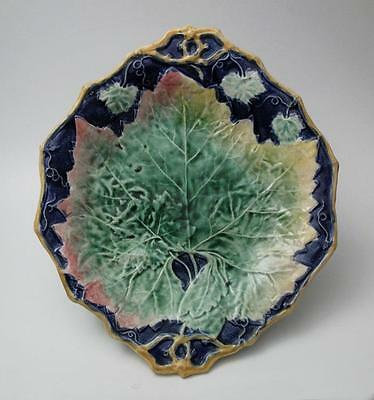 Antique English Majolica Maple Leaf Platter Made In England