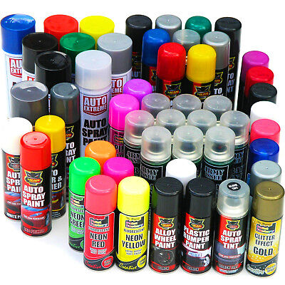 Spray Paint Black White Silver Red Blue Purple Primer Neon Glitter Gloss Matt