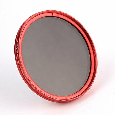 FOTGA 43mm Adjustable Fader Variable ND Filter ND2 to ND400 Red Ring Newlist