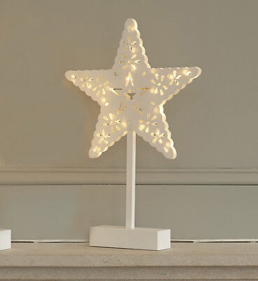 Light Up LED Star Freestanding Warm Lights Mantel Piece Christmas Wedding