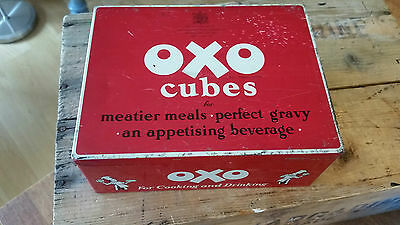 Vintage Rectangular Oxo Cubes Tin – For Cooking & Drinking – Great! –