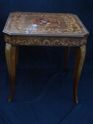 BEAUTIFUL Vintage Italian Marquetry Inlaid Lacquered Wood Casino Game Card Table