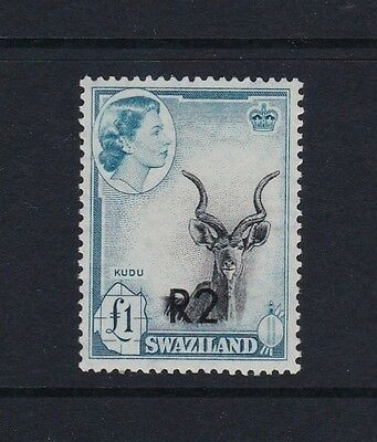 Swaziland SG77b 2r on 1r Type II (at bottom) - very lightly mounted mint £110