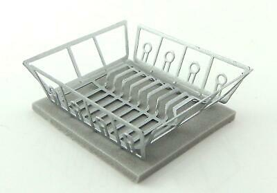 Dolls House Dish Drainer & Drying Mat Miniature Washing Up Kitchen Accessory