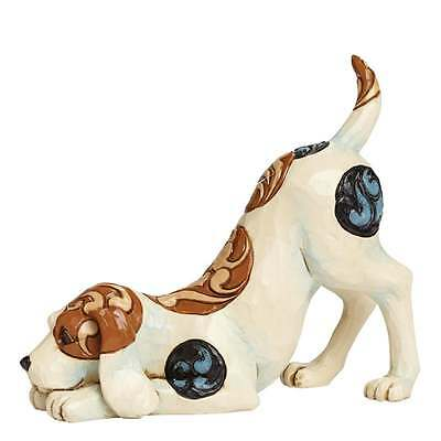 Jim Shore Heartwood Creek Bailey Dog Playing Figurine New 4045270