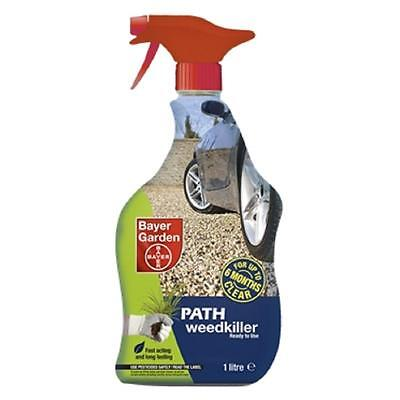 Bayer Garden Branded Path & Drive Weedkiller 1 Litre Ready to Use Spray Bottle