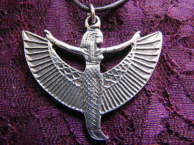 ISIS Goddess PENDANT Pewter Wicca Pagan Egyptian Kemetic Mother Of Horus
