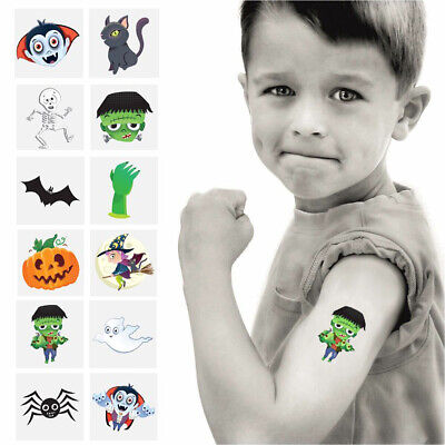 36 x HALLOWEEN TEMPORARY TATTOOS CHILDRENS SCARY BIRTHDAY PARTY BAG FILLERS