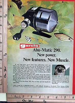 1973 GARCIA New Abu-Matic 290 Spin-Cast reel fishing tackle Magazine Ad 7504