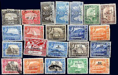 BRITISH ADEN Lot 22 Different Stamps MH used - V Nice!