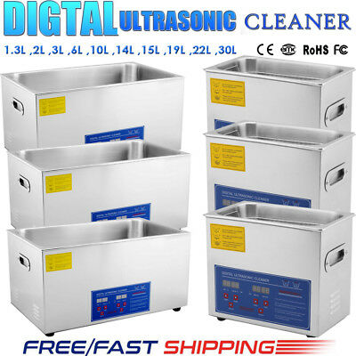 Digital Stainless Ultrasonic Cleaner Ultra Sonic Bath Cleaning Tank Timer&Heater