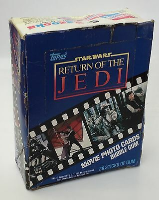 Vintage Star Wars Return Of The Jedi Topps Trading Card Empty Box 1983