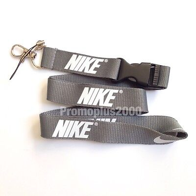 Nike Lanyard Detachable Keychain iPod Camera Strap Badge ID Running Cell Grwhte