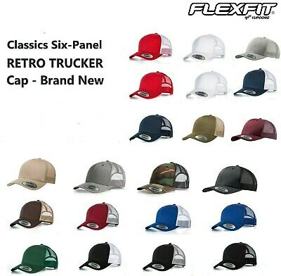 Yupoong Retro Trucker Hat & 2-Tone Snapback Baseball Cap by Flexfit, 6606
