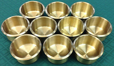 Drink Holder - 10 Large Poker Brass Drop In For Can Bottle Glass - Free S/h *