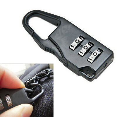 Mini 3 New Dial Swiss Cross Symbol Bag Safe Number Code Padlock Combination Lock