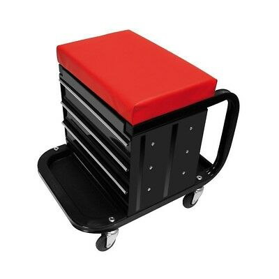NEW ProPlus Mobile Workshop Roller Seat with Storage 580526 Mobile Work Stool
