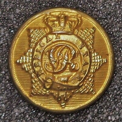 Medical Staff - Qvc Officers Gilt Button - British Army 1855-1898