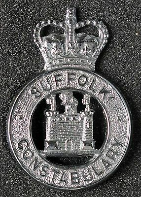 SUFFOLK CONSTABULARY - 1967 to 1980's - QC LARGE CAP BADGE - ENGLAND - OBSOLETE