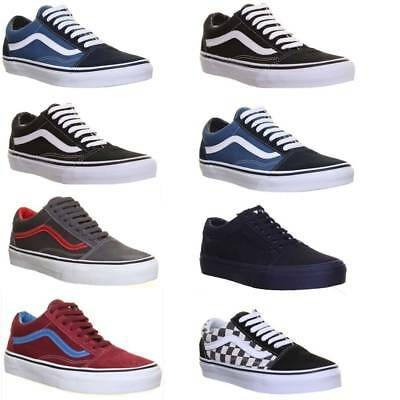 Vans Skate Shoes Old Skool Womens Plimsolls Canvas Lace Up Trainers